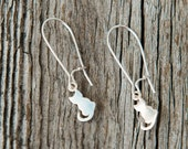 Kitty Cat Earrings, Cat Lady Gifts, Cat Jewelry, Sterling silver Kitten Charm, Cat Charm, Kitty Charm, Unique Gifts