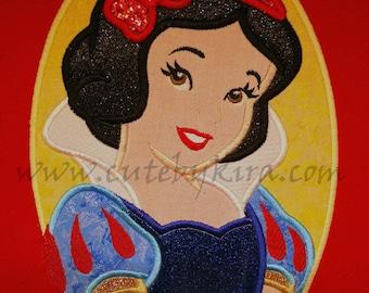 Snowy Princess Modern Cameo Applique Embroidery Design