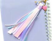 Ribbon Tassel Planner Charm Planner Accessories Kawaii Pastel Charm Fairy Kei Lolita Happy Princess Tassel Charm for Life Personal Planners