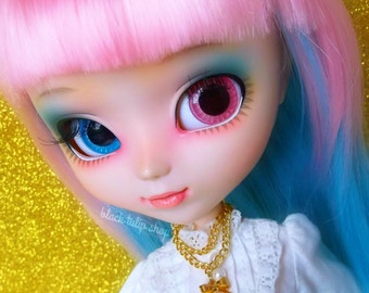 Doll Necklace Jewelry Double Gold Tone Chain Bow Jewelry for Blythe Pullip 11 inch Fashion Doll