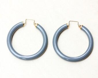 Grey Vintage Hoop Earrings