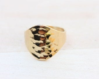 Gold Fill Hammered Ring - Size 6.75