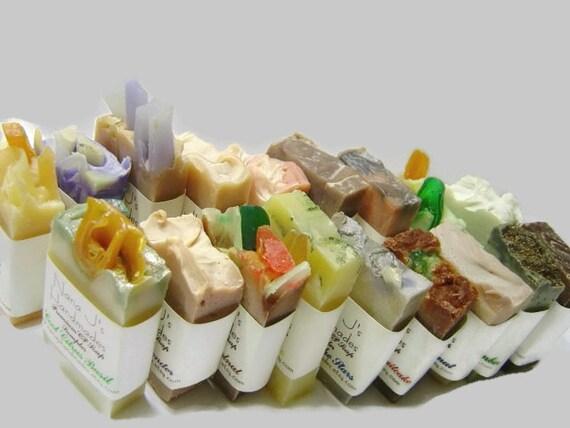 Handmade Cold Process Soap Sampler. U choose 12 guest soap samples. .Ea. 2.1-2.5 oz. party favors, shower,wedding favors.Free Shipping
