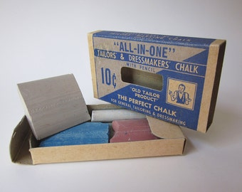 Vintage Tailors' and Dressmakers' Chalk with Original Box