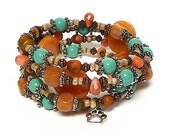 ROOT STOCK coil Beaded Bracelet by Beading Divas Fundraiser