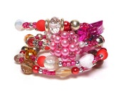 PINKY and the BRAIN Coil Beaded Bracelet by Beading Divas Fundraiser