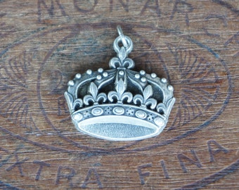 Vintage French Crown Souvenir Pendant