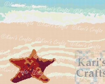 Starfish on the Beach Afghan PDF Pattern GRAPH ONLY - Instant Download