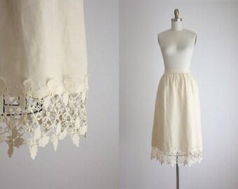 1960s linen lace skirt