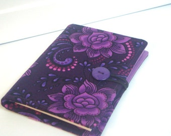 Honey Do List, Grocery List Taker/ Comes with- Note Pad and Pen - Midnight Purple Floral