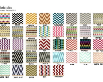 Cash Budget /Coupon / Receipt Organizer Clutch - Pick Your Color Chevron - Zig Zag