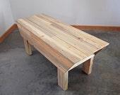Modern Wood Bench, Beetle Kill Blue Pine Furniture, Interior Finish