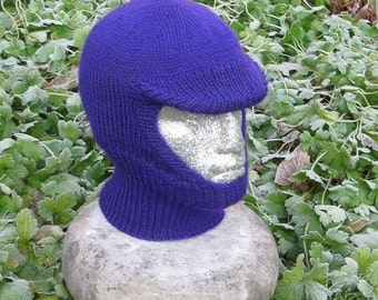 HALF PRICE SALE Instant Digital File pdf download knitting pattern -madmonkeyknits Soft Peak Balaclava and Beanie pdf knitting pattern