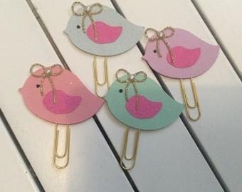 Pastel birds  planner clips