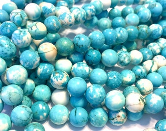 Magnesite 8mm round beads whole strand
