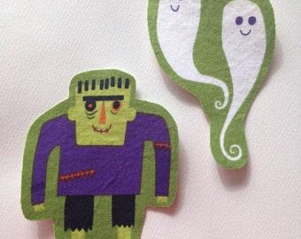Fabric Iron On Halloween Appliqué Set