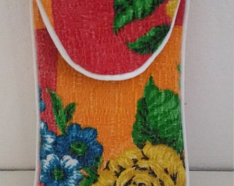 Vintage Barkcloth Special Spectacles Case