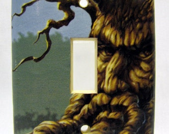 Angry Orchard - Recycled Single Light Switch Cover, Hard Apple Cider, Tree, Face, Harvest, Autumn, Fruit