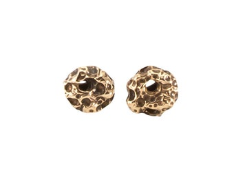 Bronze Moon Studs, Gold Moon Studs, Bronze Pebble Studs, Rock Studs, Pebble Post Earrings, Rock Post Earrings, Bronze Studs, Gold Studs