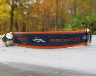 Denver Broncos Cat or Small Dog Collar