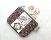 Cordelia Ghastlie Coin Purse Fabric Zipper Change Purse Fabric Coin Wallet Ghastly The Ghastlies Hammer Girl GSS