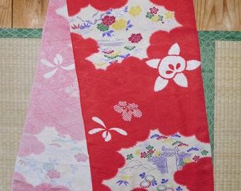 Vintage Nagajuban SiLK FABRiC Panel - Printed Shibori Pattern - FREE SHiPPiNG!!!