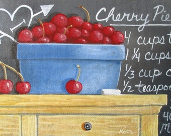 "Cherry Pie 5"" x 7"" Original Painting"