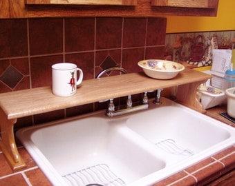 Country Oak Kitchen Counter Sink Board Shelf