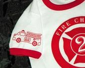 Fire Truck Birthday Shirt. Fire Engine Birthday Party. Fire Truck Party Shirt. Personalized Firetruck Tee. Custom Fire Truck. Kid Fire Shirt