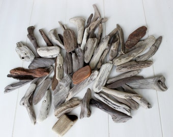 Surf Tumbled Driftwood Nuggets for Beach Decoration ,  Vase Filler & craft projects DN50