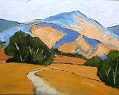 Impressionist California Hillsides Oak Trees Plein Air Landscape Oil Painting Original Art Lynne French 12x16