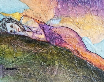 Print SPRING DAYDREAMS by Lynne French ZEN Inspired Gaia Goddess