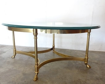 BRASS Hoof Feet COCKTAIL TABLE by LaBarge