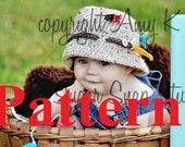 Crochet Pattern- Bucket fishing hat, Fishing Hat, Baby Boy Hats, Baby Hats, Crochet Baby Hats, Baby Fishing Hat