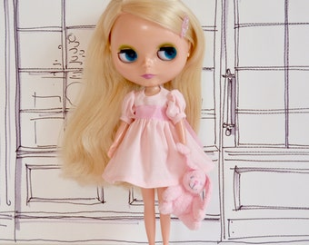 Blythe Portrait Dress - Petal Pink for Custom Neo Takara Kenner