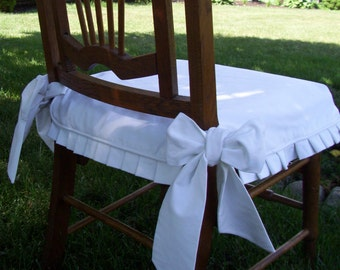 Chair Seat Cover, Dining Chair Slipcover with Knife Pleat Skirt