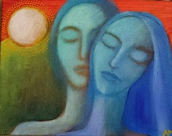 Lovers in Blue