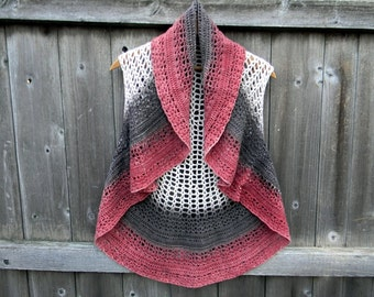 Handmade Crochet Women Shrug Bolero Tunic Summer Cardigan Earthy Color Hug Shrug Women Circle Vest MEDIUM /Large