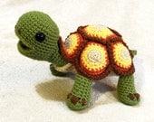 Happy Tortoise Turtle Crochet Pattern PDF