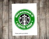 Starbucks Birthday Coffee Lover Printable Poster  - Print Your Own