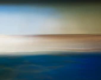 Sea Hues, abstract landscape, abstract seascape, blue, beautiful seascape, ready to hang canvas, giant wall art, fine art photo, minimal
