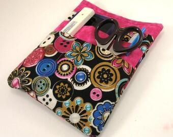Nurse scrubs pocket organizer, purse organizer, lab coat pocket organizer - Bright Buttons - Ready to Ship