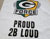Vintage Two Green Bay Packers Towel G Force Proud 2 B Loud Rally Towel Orange Green Set of Two