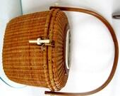 Vintage Nantucket Basket Purse Lightship Basket White House Handmade Warren Gritzke