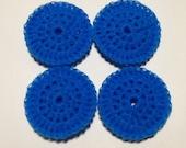 4 Nylon Dish Scrubbies  turquoise/teal