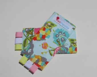 NEW Red Charlotte Sucking Pads - Drool Pads in Floral Bees - Fits all Baby Carriers, including Tula, Ergo, Beco, Angelpack and more!
