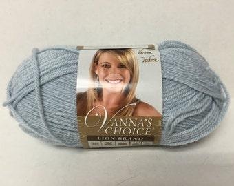 Lion Brand Vanna's Choice Yarn - Silver Blue - 3.5 oz/100 g