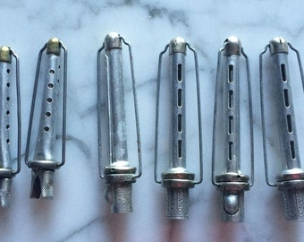 12 Vintage 1940s Self Winding Wand Rollers Curlers Unique 40s Retro Dress