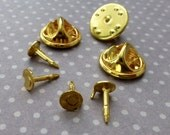 free shipping in UK - 20 Tie Tacks Butterfly pinch back Pins Clutch Back Lapel Scatter Pin Gold