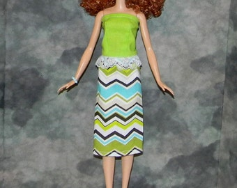 TB1-09) NEW TALL Barbie doll clothes, 1 skirt and top